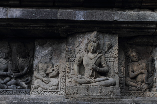 Sculptures on the Shiva Temple, Prambanan, Indonesia