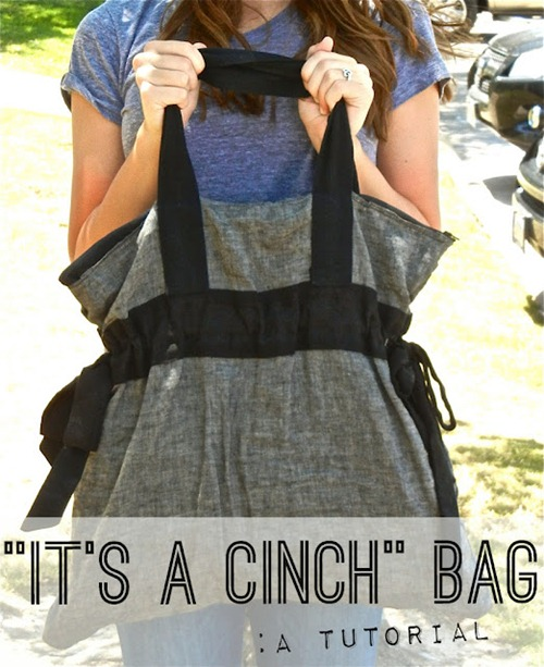 cinch bag tutorial