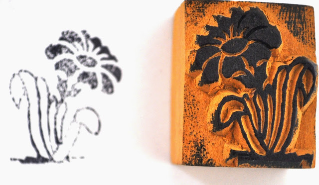 Wooden Block Flower Stamp