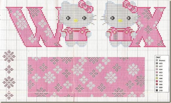 Ponto-Cruz-Abecedário-Hello-Kitty-W-X