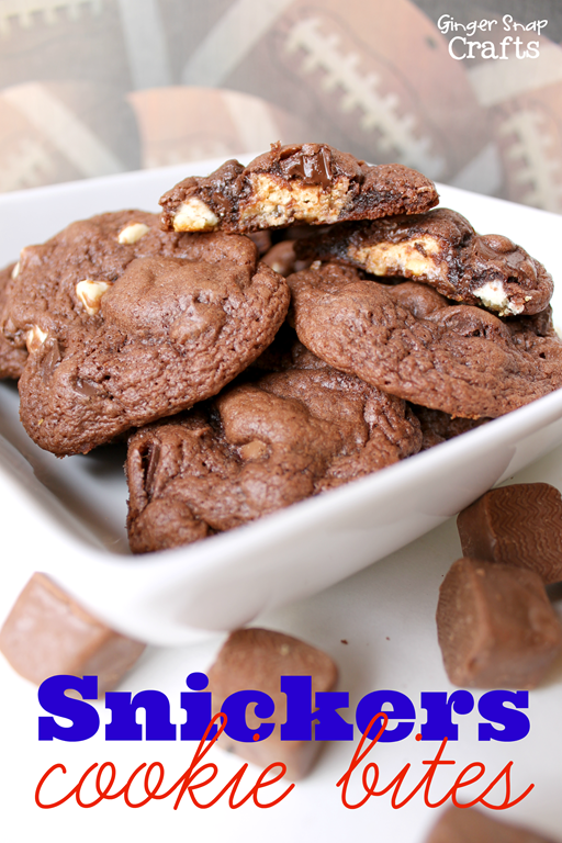 Snickers Cookie Bites at GingerSnapCrafts.com #cbias #shop