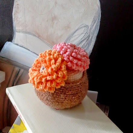 cactus crochet orange