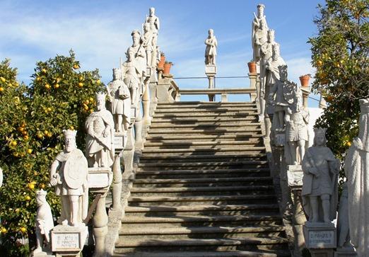 Portugal - Castelo Branco - Jardim do Paço Episcopal - escadaria dos reis - Glória Ishizaka