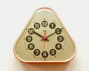 orange bob wall or desk clock front