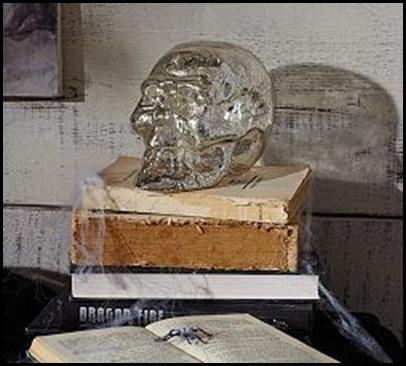 mercury glass skull