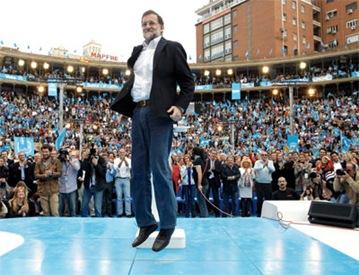 Rajoy levitando