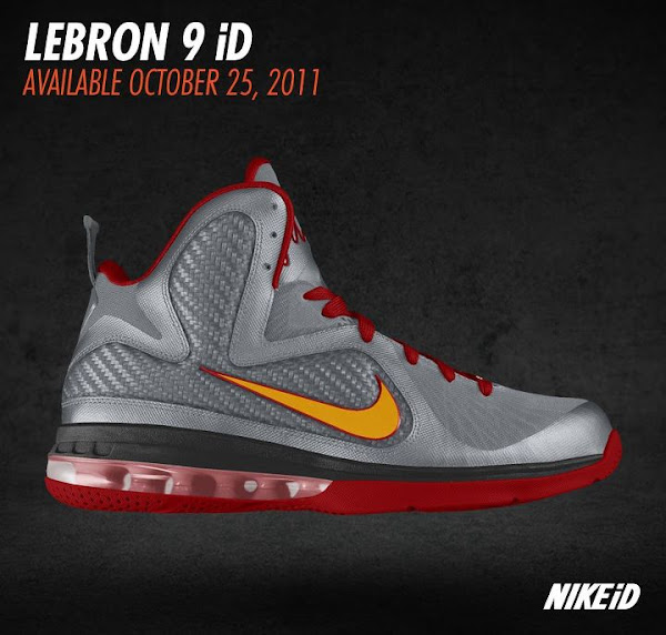 Nike LeBron 9 iD Preview vol You won8217t be able to make your own South Beach shoe