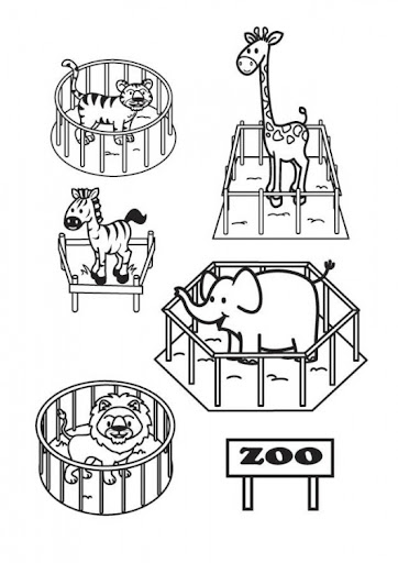ZOO TO COLOR ZOO DRAWING