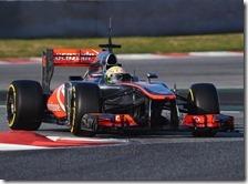 Perez con la McLaren nei test di Barcellona 2013