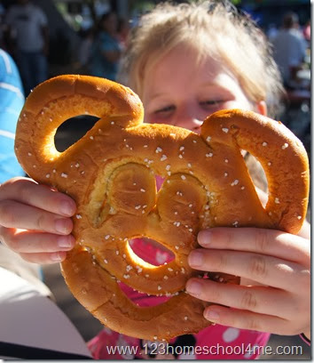 Best Snack Credit at Disney Magic Kingdom -  Mickey Pretzel
