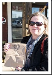 Peg buys from Black Dog Coffee