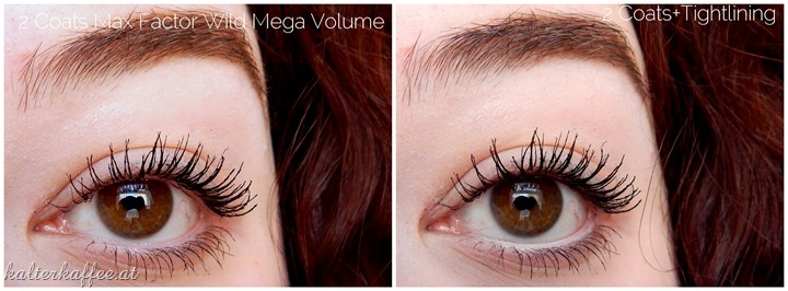Max Factor Wild Mega Volume Mascara applied