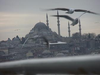 mezquita de Süleymaniye desde un ferry, Estambul