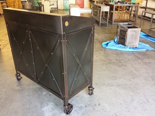 Real industrial edge furniture llc hostess stand for