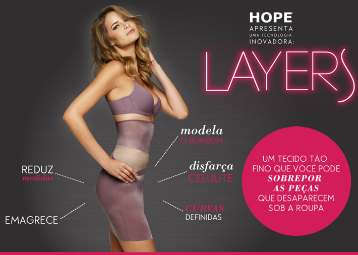 lingerie modeladora hope 2013