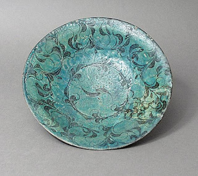 Bowl Iran, Kashan Bowl, early 13th century Ceramic; Vessel, Fritware, underglaze painted, 2 1/2 x 9 1/2 in. (6.35 x 24.13 cm) The Nasli M. Heeramaneck Collection, gift of Joan Palevsky (M.73.5.278) Art of the Middle East: Islamic Department.