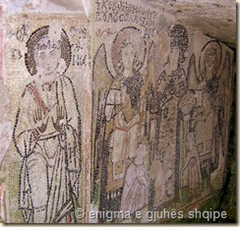Mozaiku i kapelës së  amfiteatrit të Durrësit
