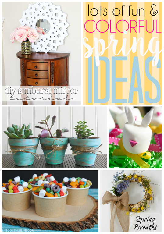 Lots of Fun & Colorful Spring Ideas at GingerSnapCrafts.com #linkparty #features #spring