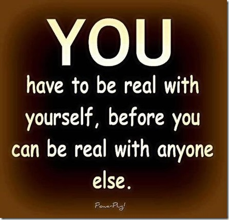 real with yourself
