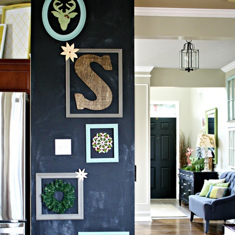 Chalkboard art wall