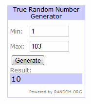 Giveaway Random Pick