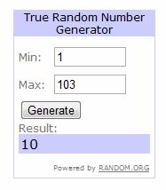 Giveaway Random Pick