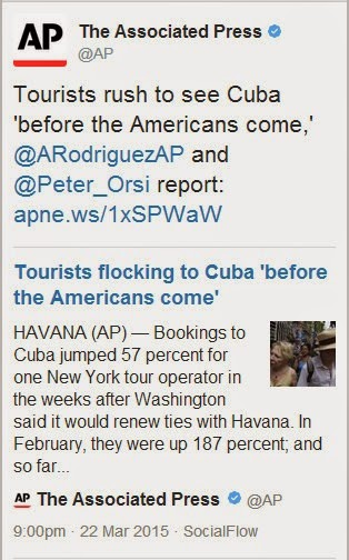 Tourists flock to Cuba