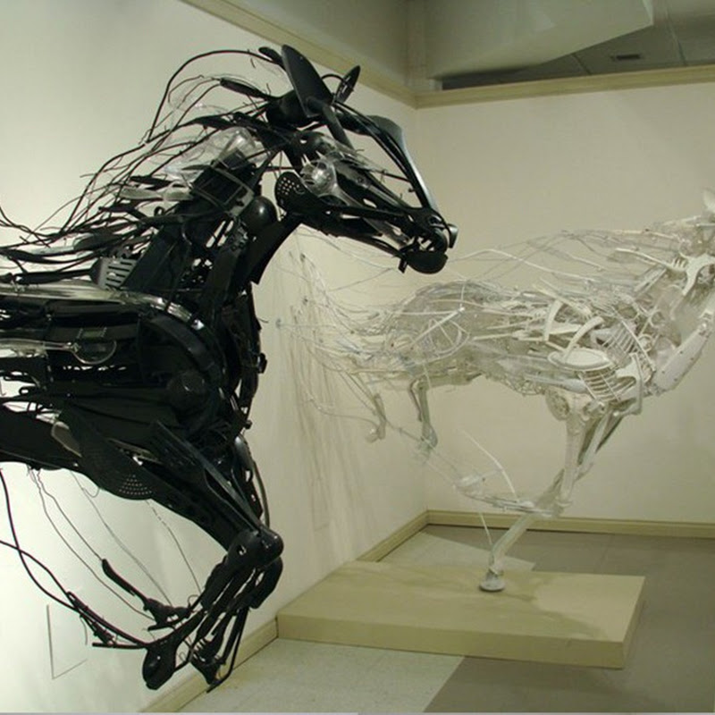 Recycled Plastic Sculptures by Sayaka Ganz