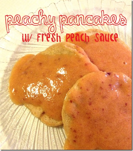 Peachy Pancakes title