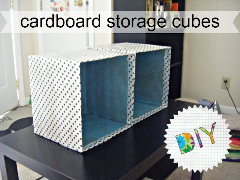 Cardboard Storage Cubes | allonsykimberly.com
