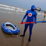 ik stem ook op water at new year's dive in Scheveningen, Zuid Holland, Netherlands