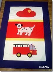 Fireman quilt for J