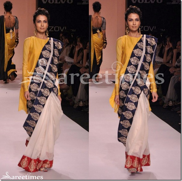 Payal_Singhal_White_Saree_Drape