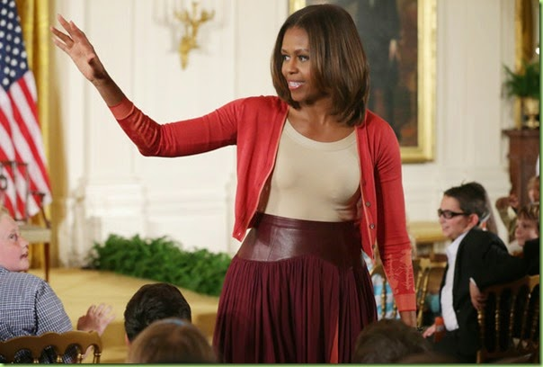 Michelle Obama Take Children Work Day White kPyKqvFg118l