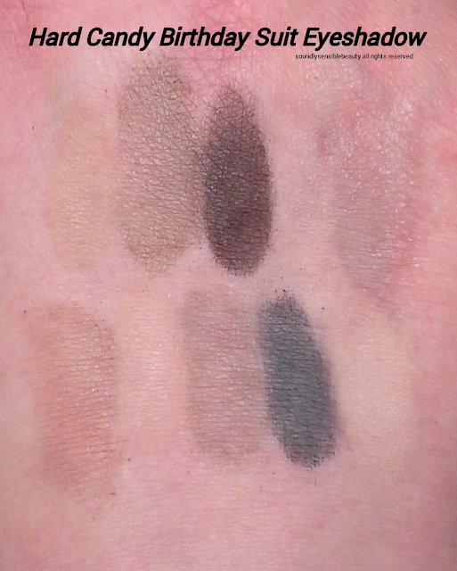 Hard Candy Birthday Suit Eye Shadow Swatches & Review; Top-Ten Trendsetter, Nude Matte Palette