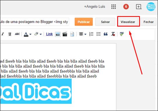 Como colocar imagens no título de uma postagem no Blogger - Visual Dicas