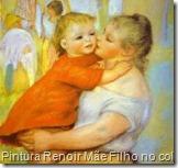 Pintura Renoir Mãe Filho no colo 315x298