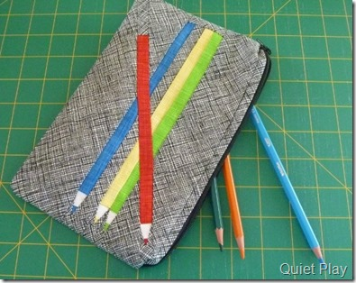 Paper Pieced Pencil case by Quiet Play