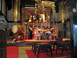 Inside the Renkei Temple, in the town of Kawagoe