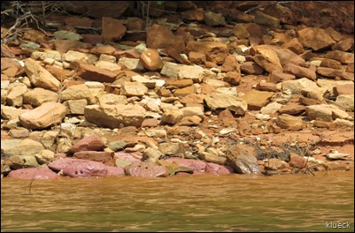 pink rocks at Kayaking Lake Nottely