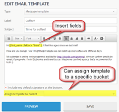 Contactually email templates