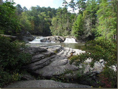 Linville falls, first level