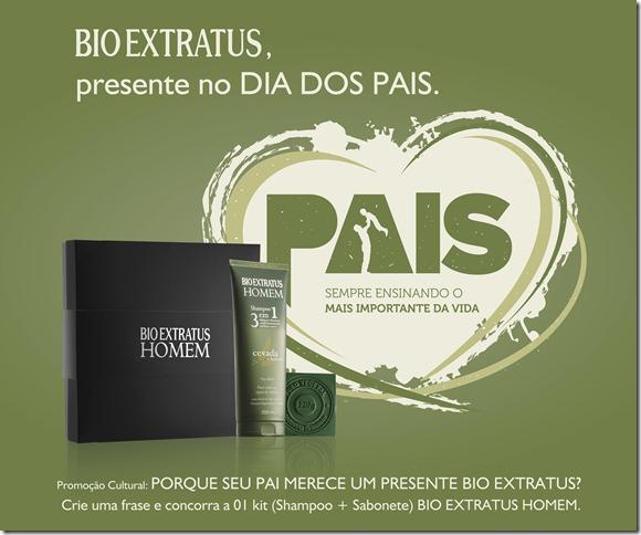Promoção Bio Extratus Dia dos Pais.
