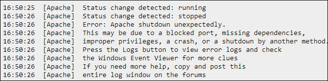 Apache Error