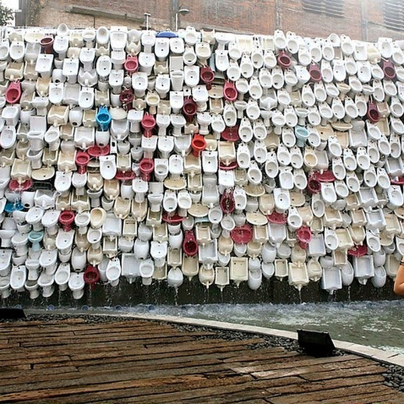 Toilet Bowl Waterfall in Foshan, China