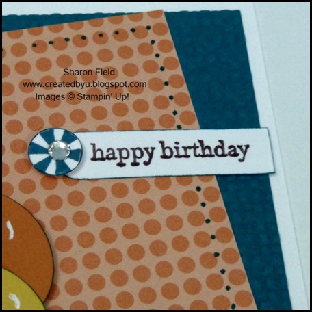 Pennant Parade, Just add Cake, Petite Pennant Punch, Card Maker, Card Creations Volume 9, Michelle Phillips, punch, dsp, designer, balloons, idea book and catalog, baby, birthday, occassion, button bow