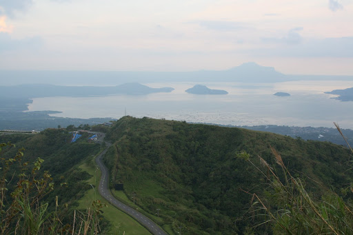 Taal Lake as seen from the ridgeline at Talisay