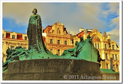 Prague, Jan Hus Statue, Old Town Square