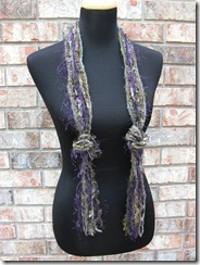 purple green grey necklace scarf