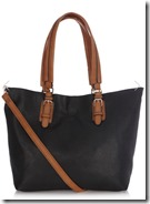Oasis Black and Tan Shopper